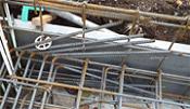 ガレージ部分の基礎梁の端部
