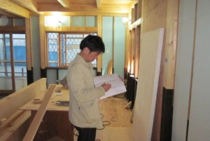 工事途中からの住宅検査